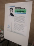 Biographical article on display with the Women's History Month exhibit honoring Lady Henrietta Vinton Davis in Washington, DC at the Martin Luther King, Jr. Memorial Library